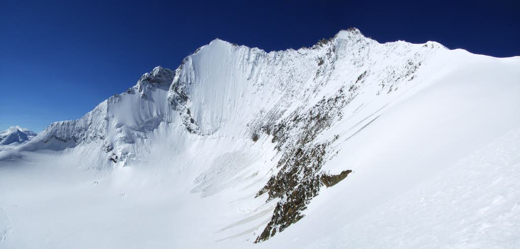 Lenzspitze northface & Nadelhorn panorama