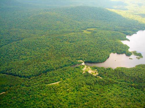 Cedar River Flow Aerial View credit JLS