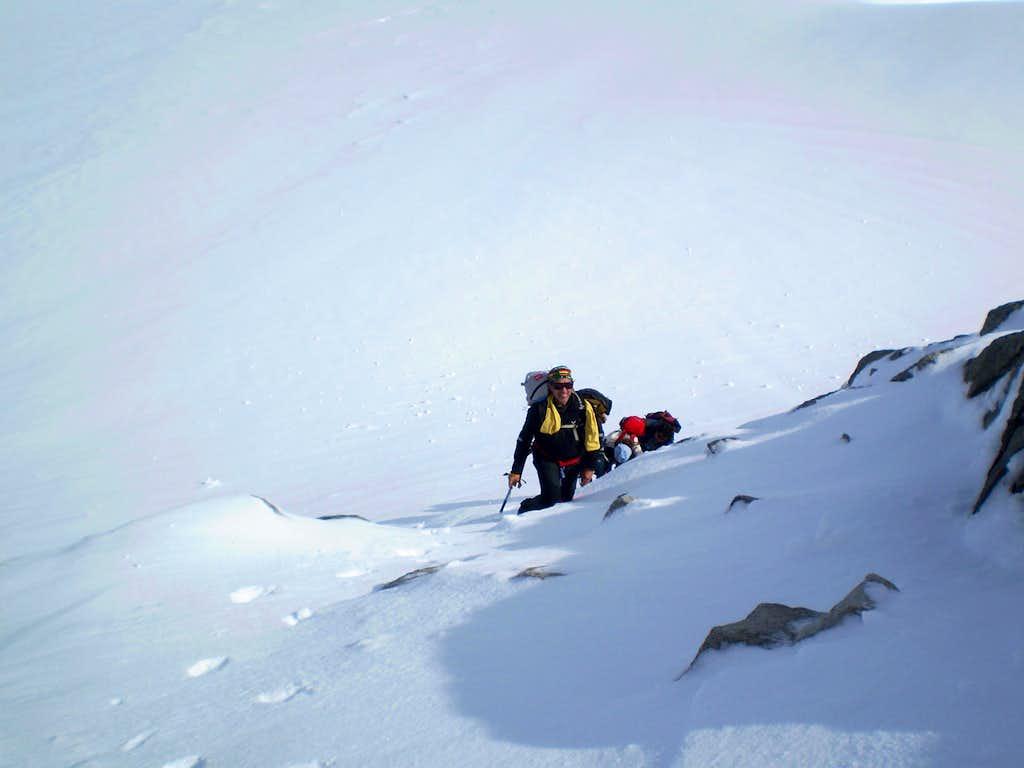 Below the summit