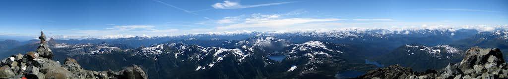 Golden Hinde Summit Panorama