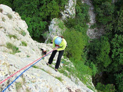 Rapelling Marlenka and climbing Morceaux