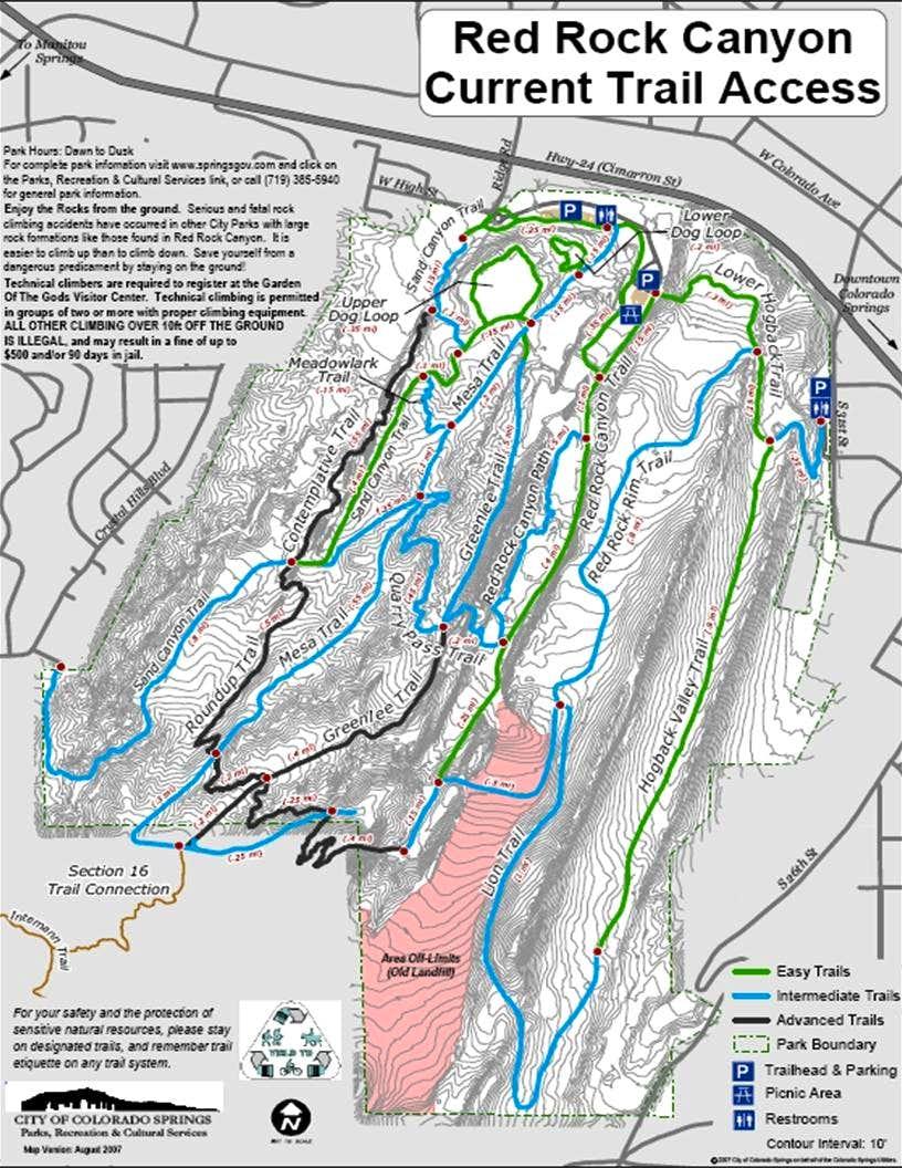 Red Rocks Trail Map