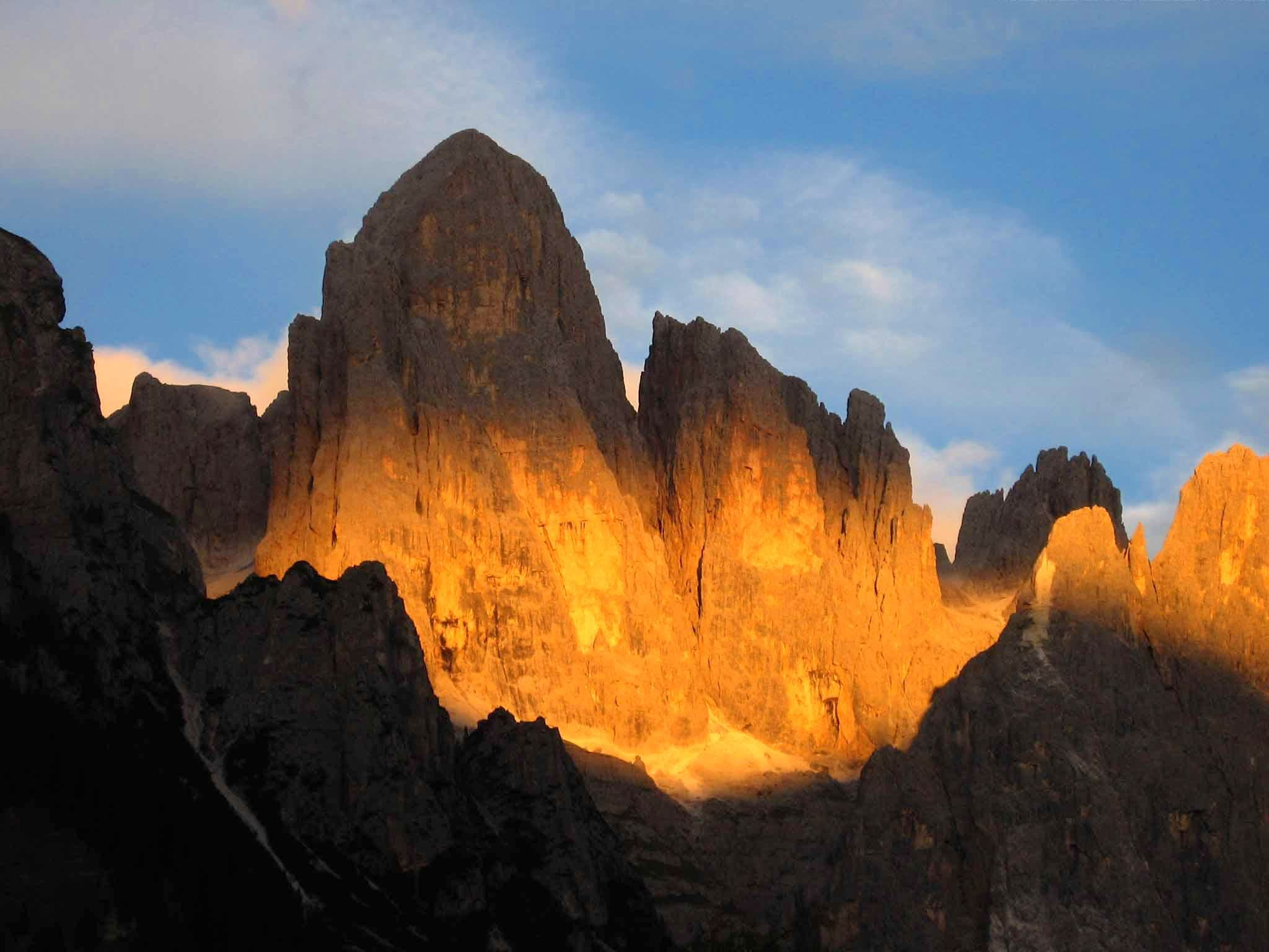 Dolomites dawn and sunset