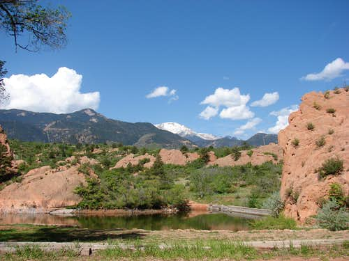 Pikes Peak from Red Rocks