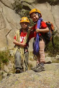 Jon and Unai ready to climb 'EL YELMO'