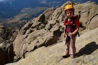 Unai climbing EL YELMO south face