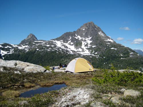 Camp on Mt Burman