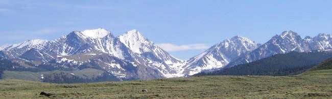 View of the Lost River Range...