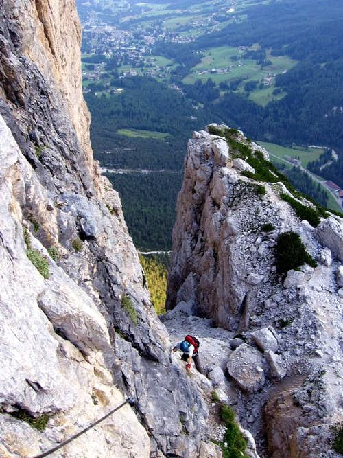 Zsolti on the route