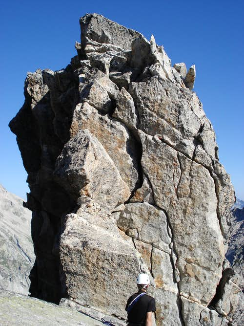 The second pitch on the Kluckerzahn
