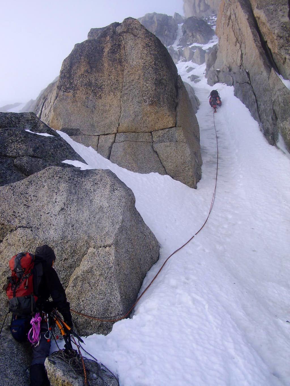 Climbing the Migot spur