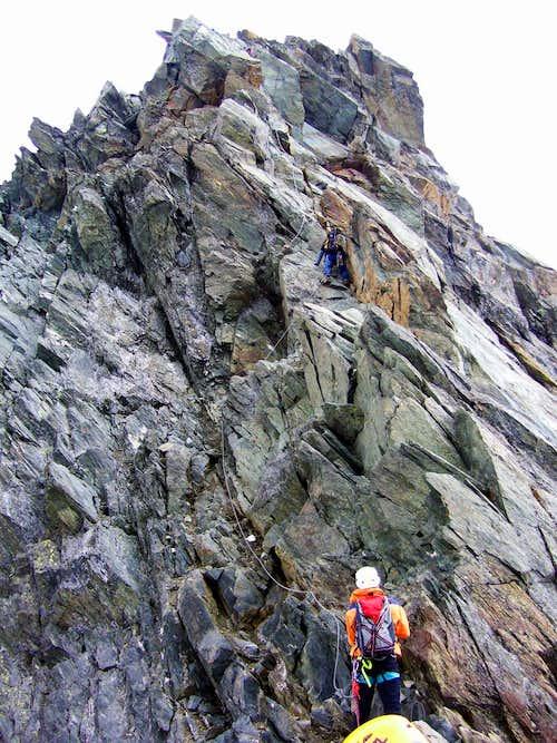 Climbers on Stuedlgrat