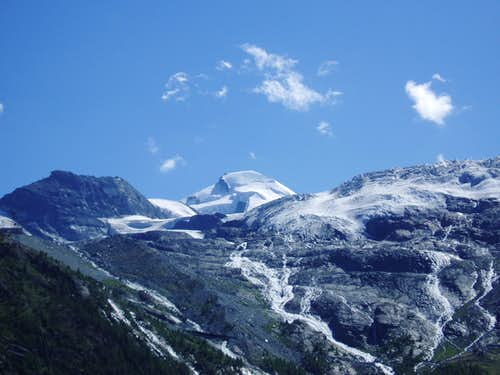 Allalinhorn and glacier