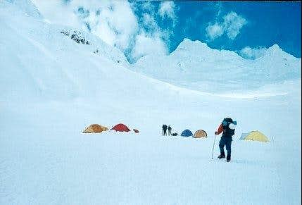 High camp (5100 m) on the...