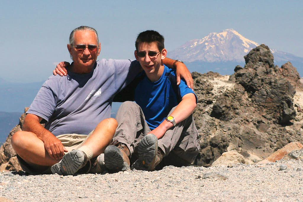 Near the top of Lassen Peak