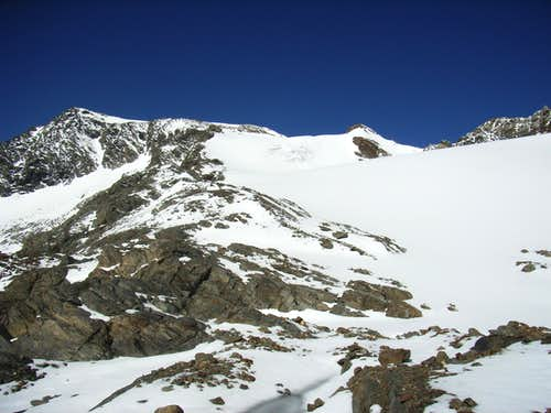 The Grieskogelferner and the Summit (in the middle)