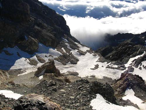 The rest of Glacier Volfrede seen from Col des Dames.