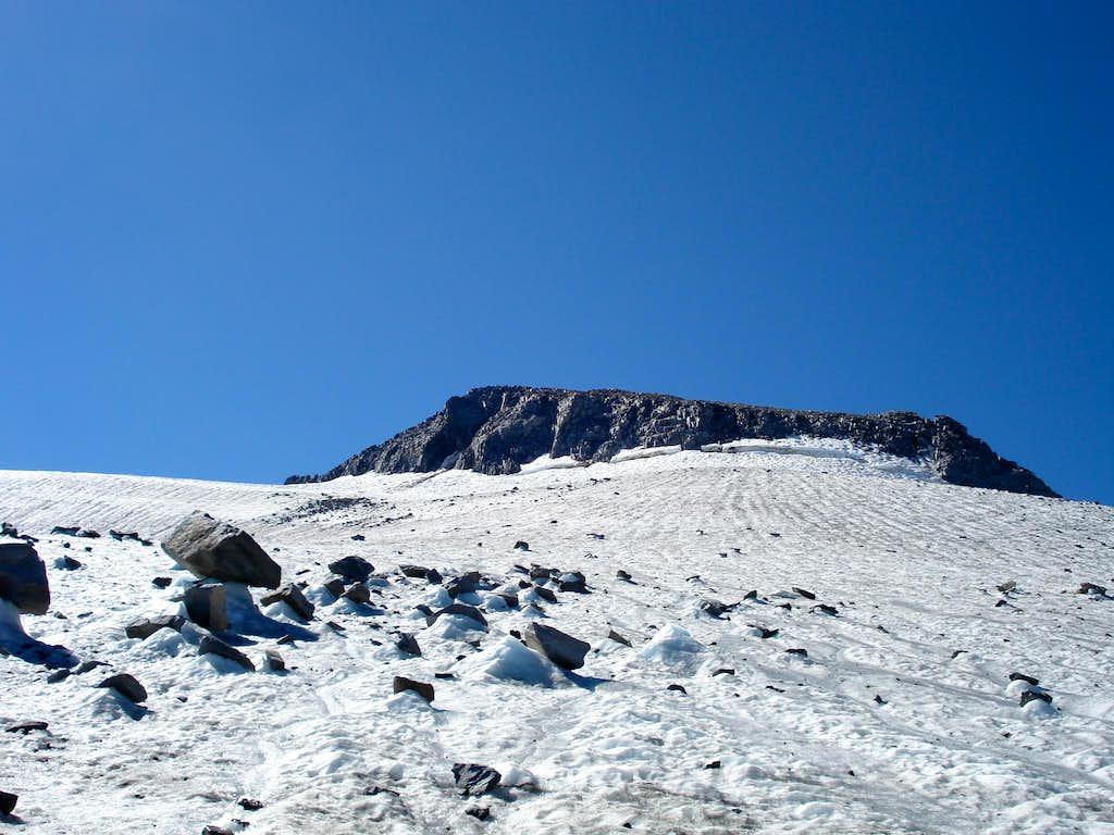Mt. Lyell rising above the Lyell Glacier, September 2007