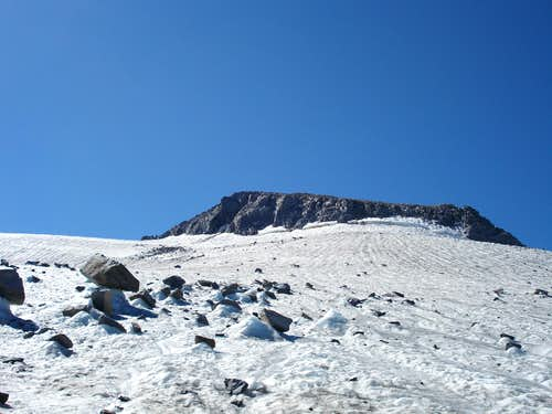 Mt. Lyell rising above the Lyell Glacier, September 2007