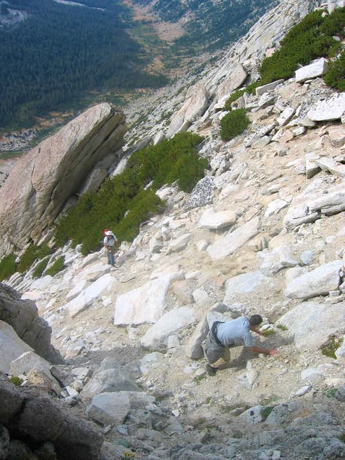 Climbing the correct chute