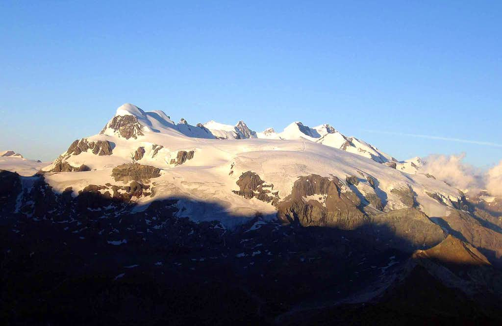Monte Rosa group seen from bivouac Florio.