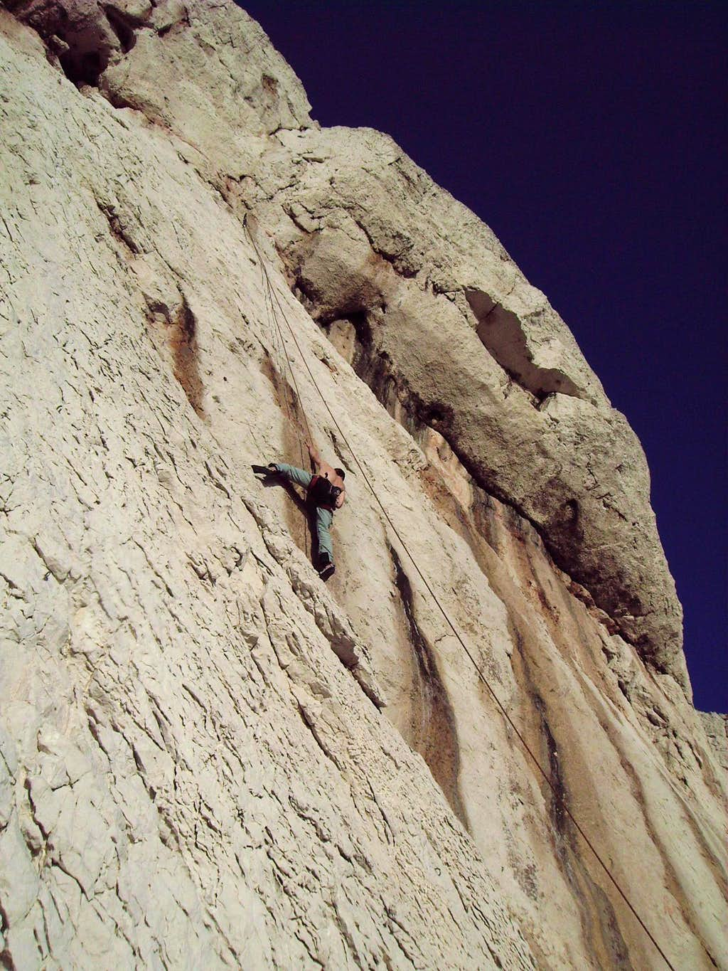 Perfect climbing weather on the 2e of January