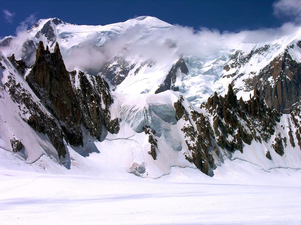 Il Col de la Fourche e le Mont Blanc