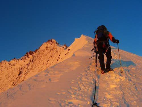 Nadelhorn ascent - first daylight