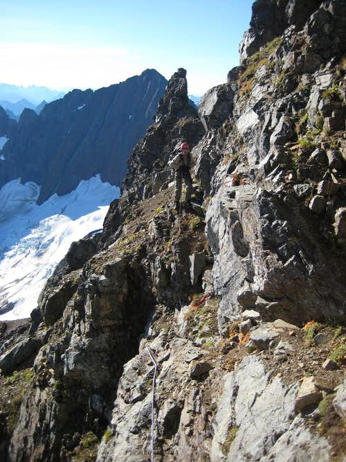 2nd East Face traverse (narrow section)