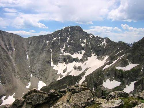 Paiute Peak\'s north face as...
