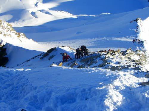 Nadelhorn summit step