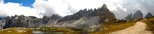 Panorama from near Locatelli hut