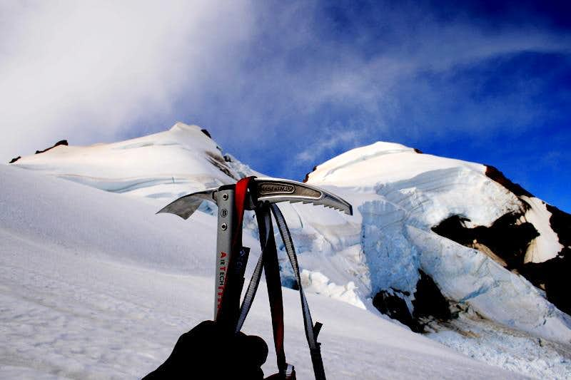 Ice axe on Mt.Baker