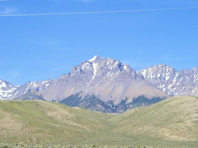 Lost River Peak from US 93...