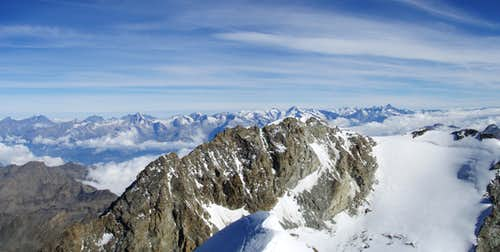Fletschorn and complete Bernese Alps
