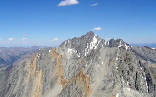 Borah Peak from the summit of...