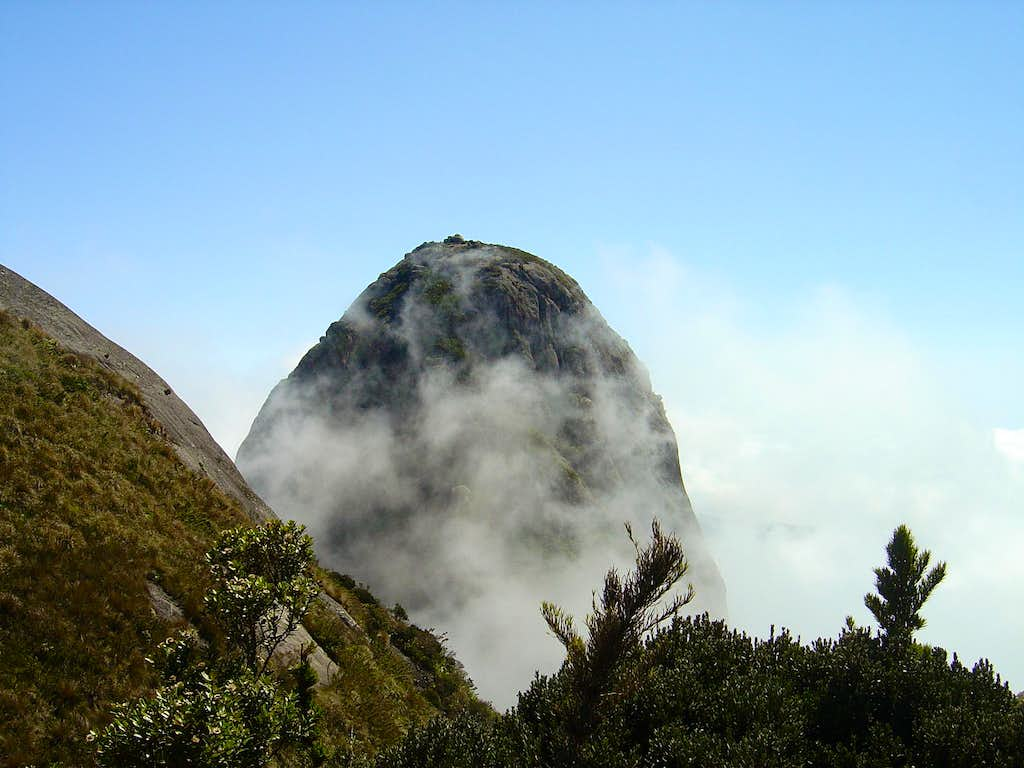 Pico Maior in mysty clouds...