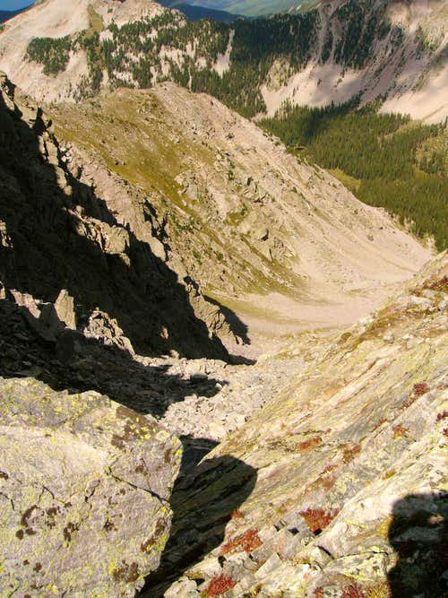 Scree Route down Middle Truchas