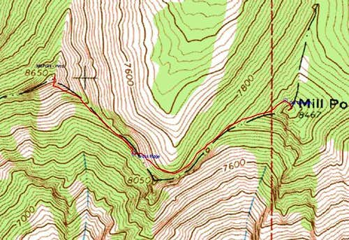 Topo of Connecting Ridge Route