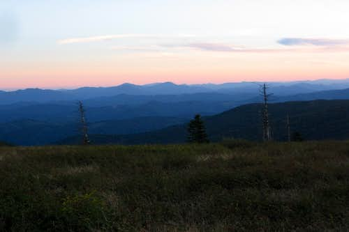 Sunset from near Thomas Knob Shelter