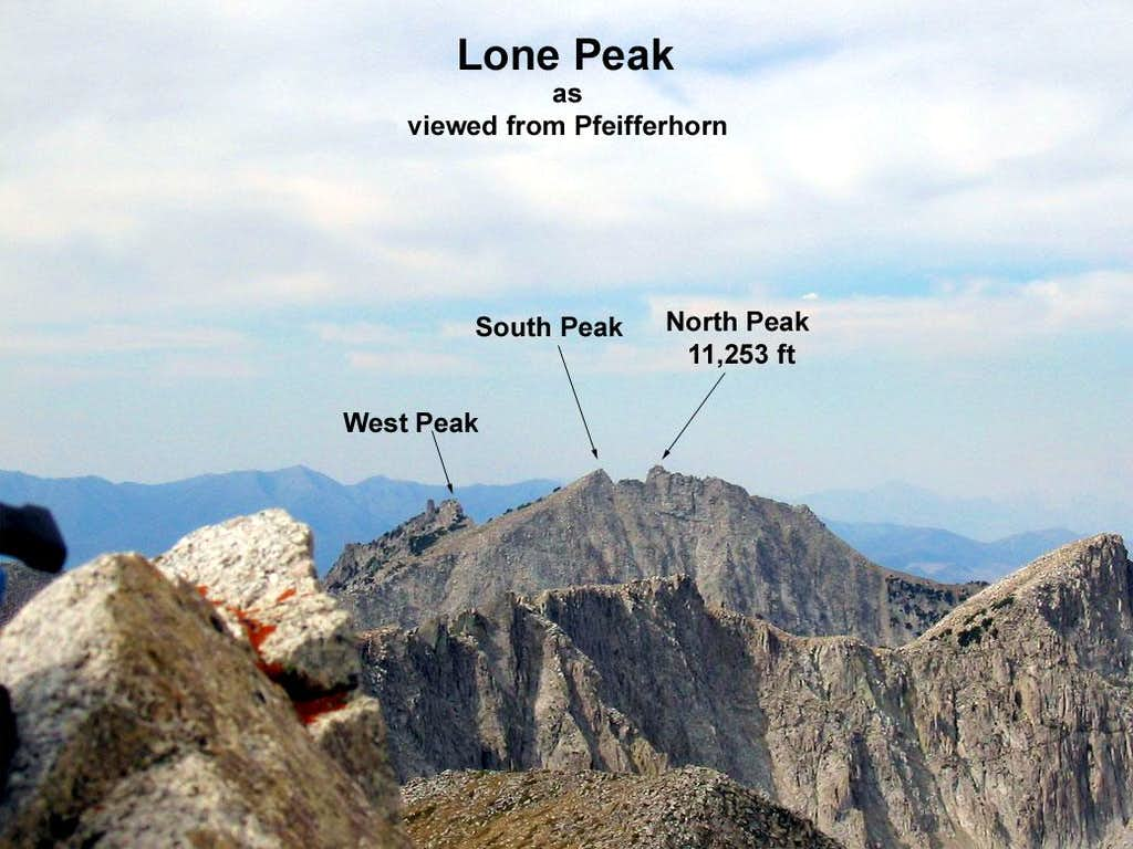 Lone Peak Viewed From Pfeifferhorn