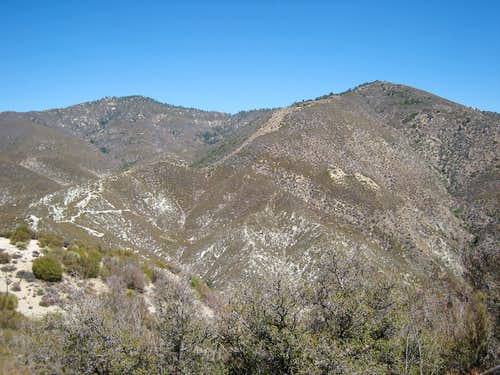 Granite Mtn. #1 (6,600\')(L) and Round Top Mtn. (6,316\')(R), San Gabriel Mtns.