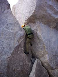 Crack on East side of Summit Block