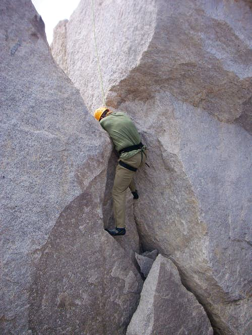 Crack on East side of Summit Block