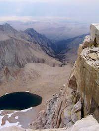 View down on Iceberg Lake