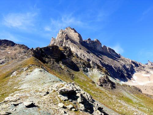 Les Trois Frères (3261m), from bivuac Savoie (2651m)