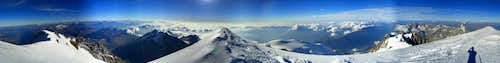 Mont Blanc 360° Summit-Panorama