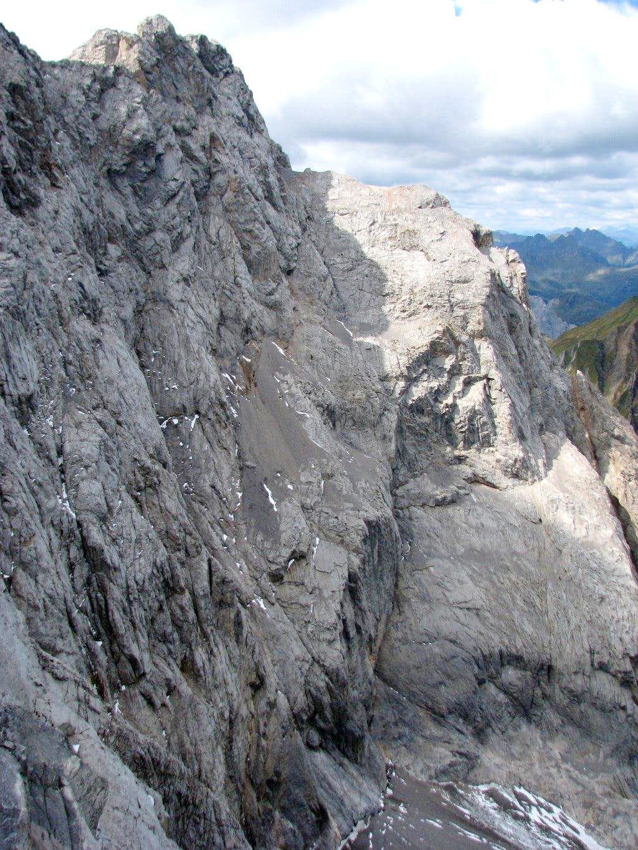The wild north face of Creta della Cjanevate/Kellerspitzen, 2769m.