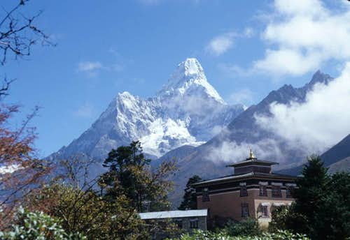 Ama Dablam from Tengboche