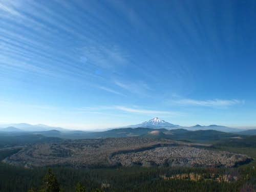 Shasta dominating the skyline